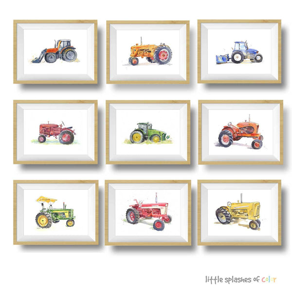 tractor printable wall decor