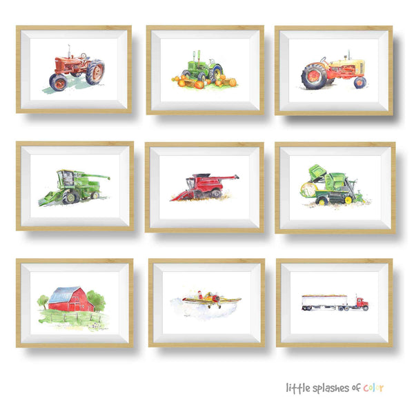 tractor printable wall art