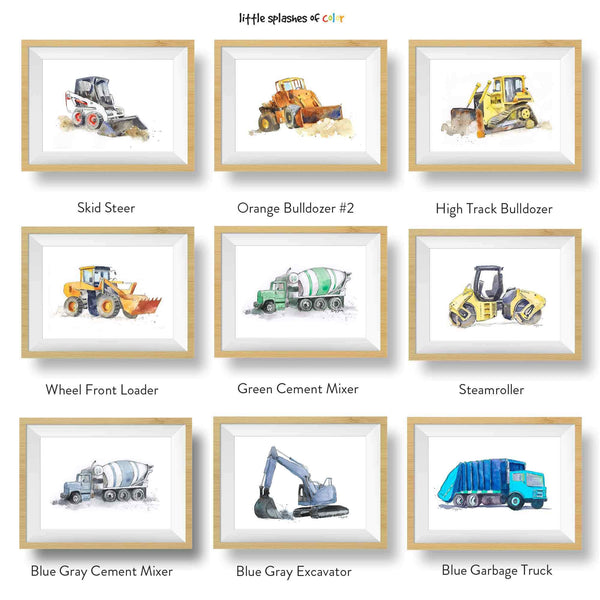 construction wall art bundle