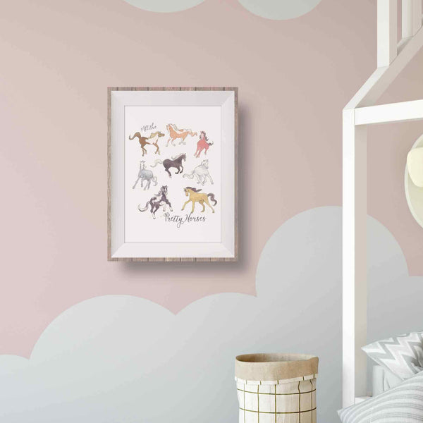 horse wall decor girl