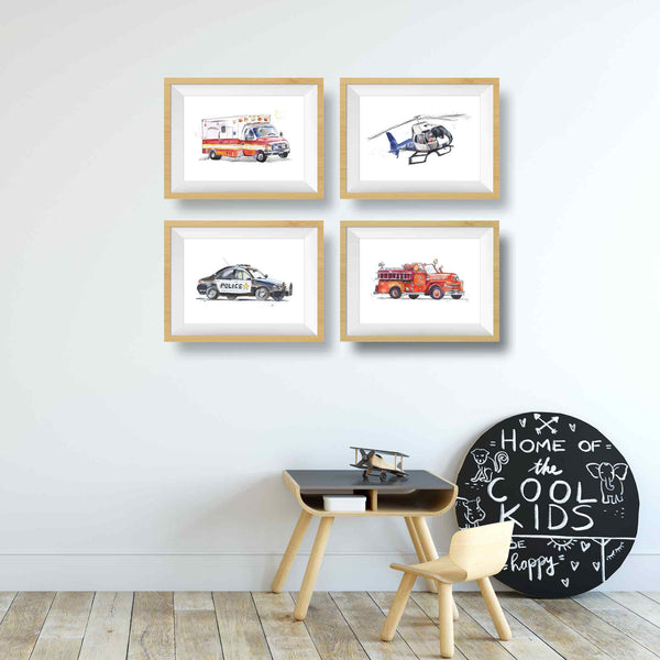 police car wall decor