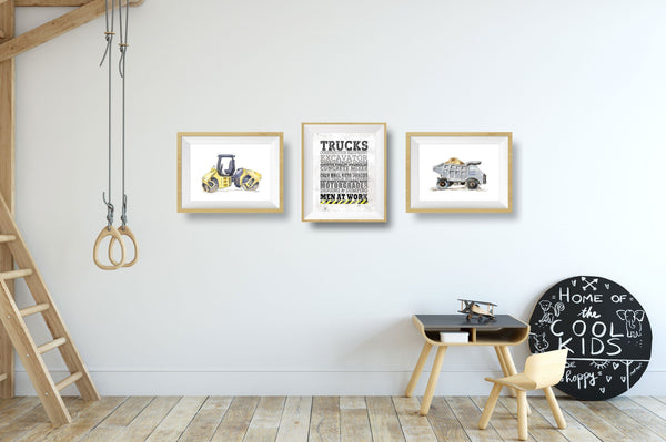 construction wall art for toddlers