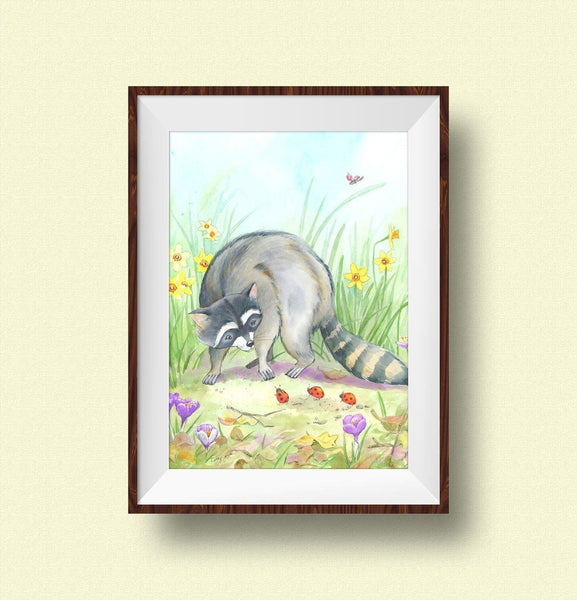 woodland animals wall art