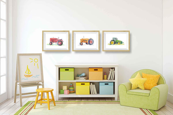 tractor art for toddlers