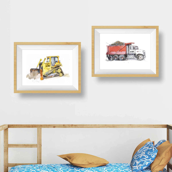 Red Dump Truck Print (download)