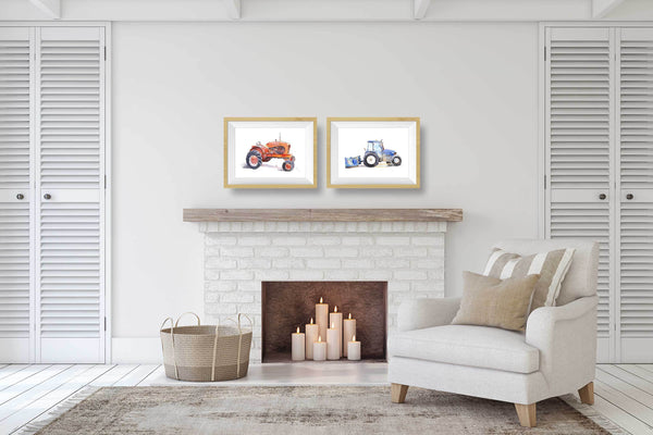 printable tractor wall decor
