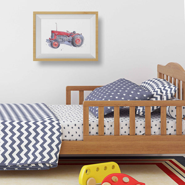 farm tractor nursery wall decor