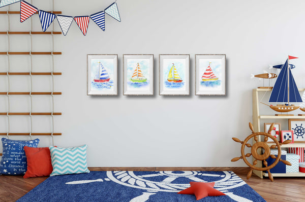 buy sailboat wall art
