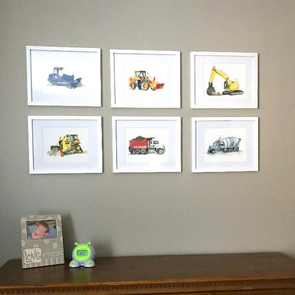 High Track Bulldozer Print