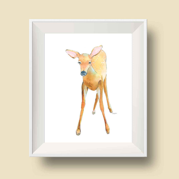 children's woodland animals wall art