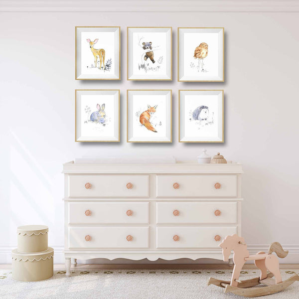 fox baby nursery set
