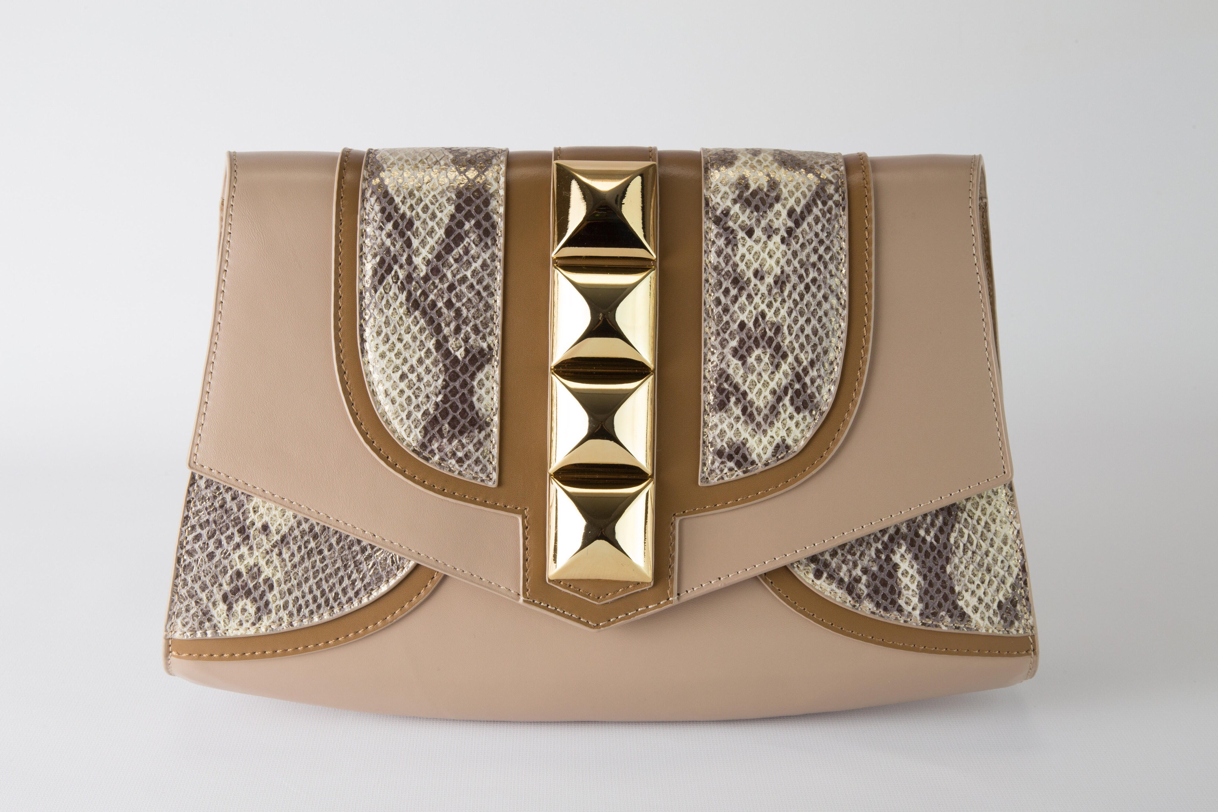 ALIZ CLUTCH in Taupe