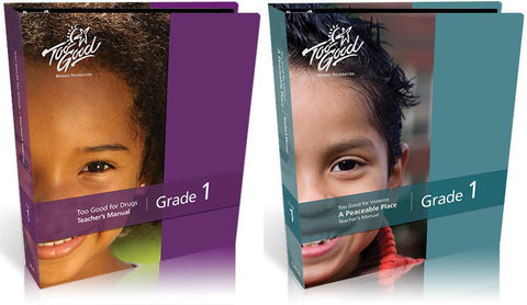 Available in August: Revised Editions of Too Good for Drugs and TGFV- A Peaceable Place Grade 1