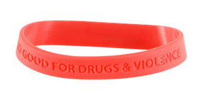 Too Good for Drugs & Violence Silicone Bracelet