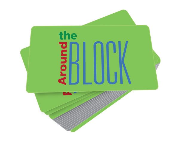 Around the Block Game Cards
