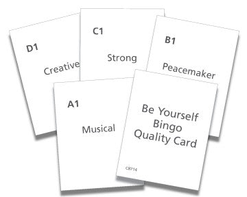 Be Yourself Bingo Quality Cards