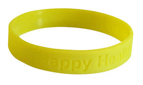 """Happy Healthy & Strong"" Silicone Bracelet"