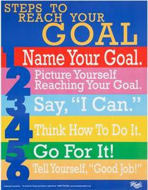 Steps to Reach Your Goal Poster