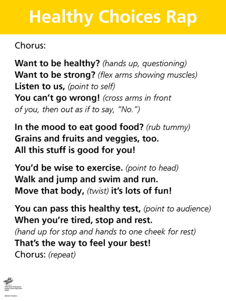 Healthy Choices Rap Poster