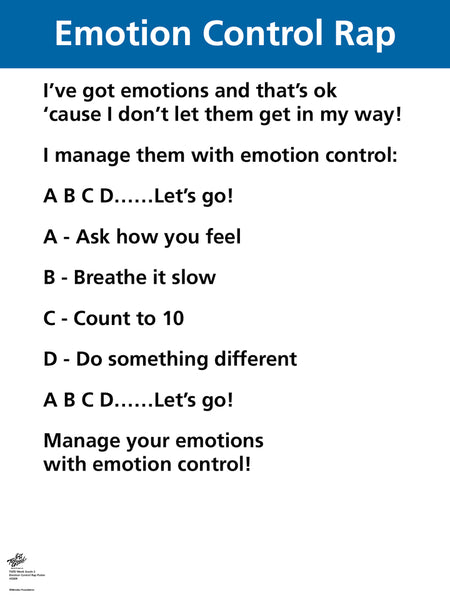 Emotion Control Rap Poster