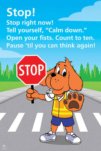 Stop and Paws Poster