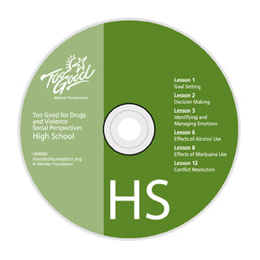 Too Good for Drugs & Violence High School Media Disc
