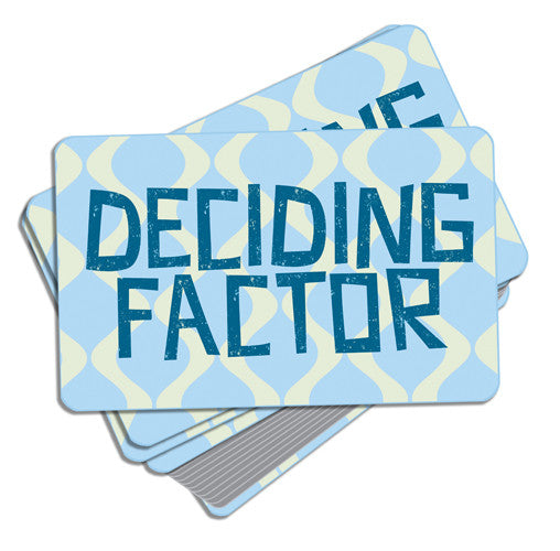 Deciding Factor Card Game
