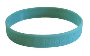 "PR3052 ""Building A Peace-Able Place"" Silicone Bracelet"