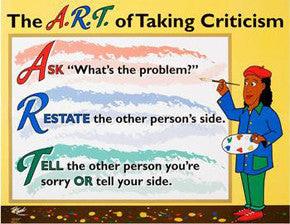 The ART of Taking Criticism Poster