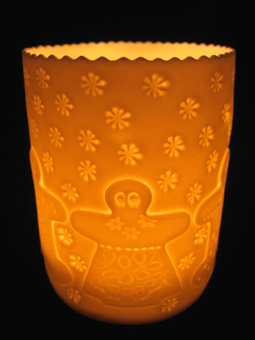 Gingerbread Folk Porcelain Tealight Holder