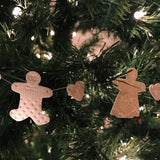 Gingerbread Folk Porcelain Garland