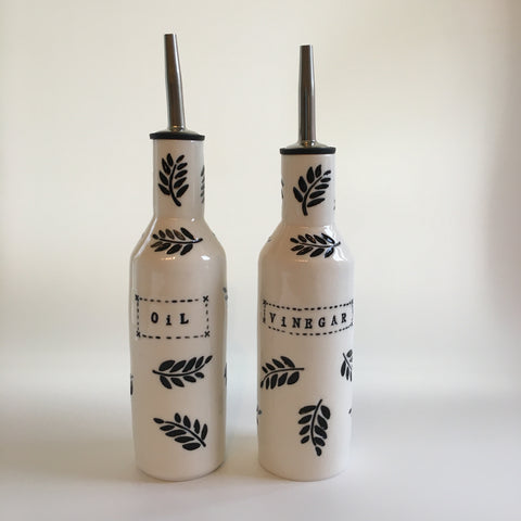 handmade porcelain oil and vinegar drizzler bottles.  Tactile and beautiful