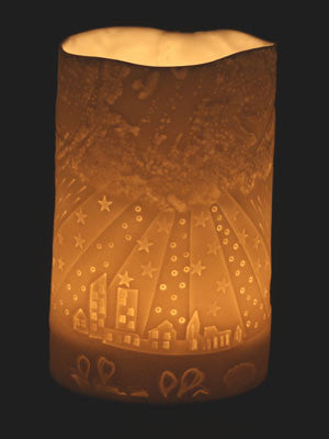 One of the beautiful candle light holders by stefstorey depicting the Pennine fells
