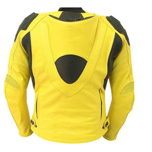 Yellow Biker Genuine Leather Jacket