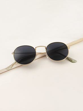 Metal Frame Tinted Lens Sunglasses