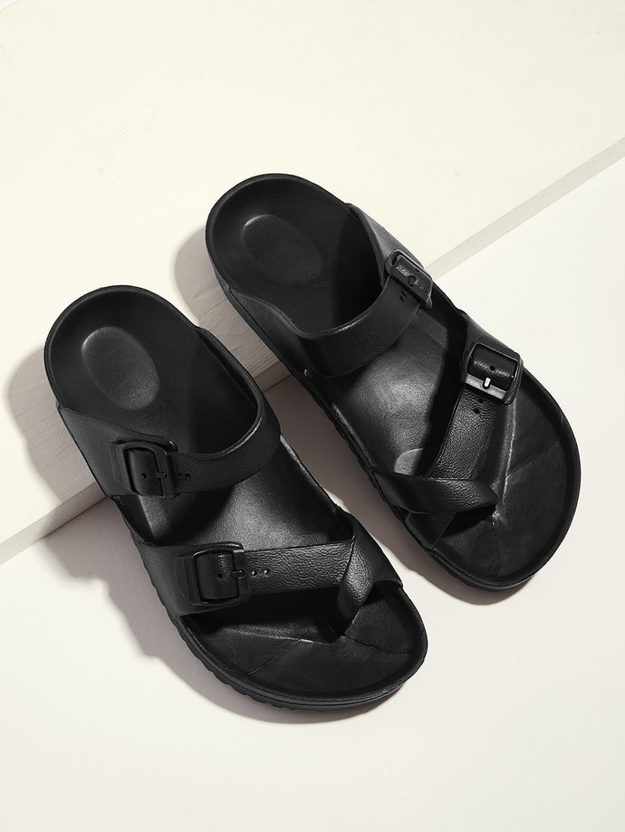 Toe Ring Double Buckle Strap Sandals