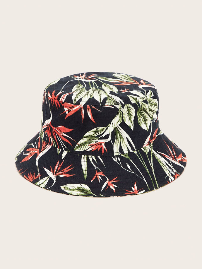 Leaf Pattern Bucket Hat