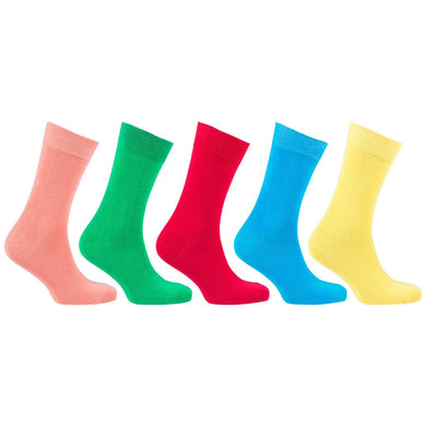 5-Pair Solid-Color Socks
