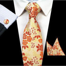 Silk Jacquard Ties  with Pocket Square