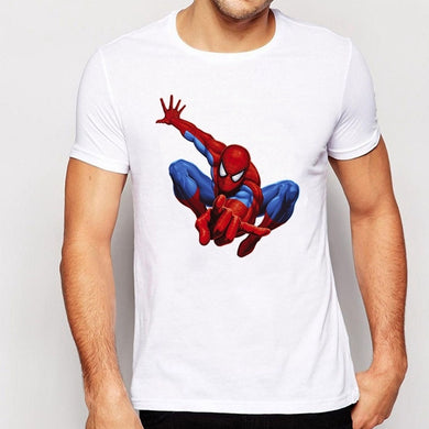 Spider-Man Printing Short Sleeve Casual T-Shirt