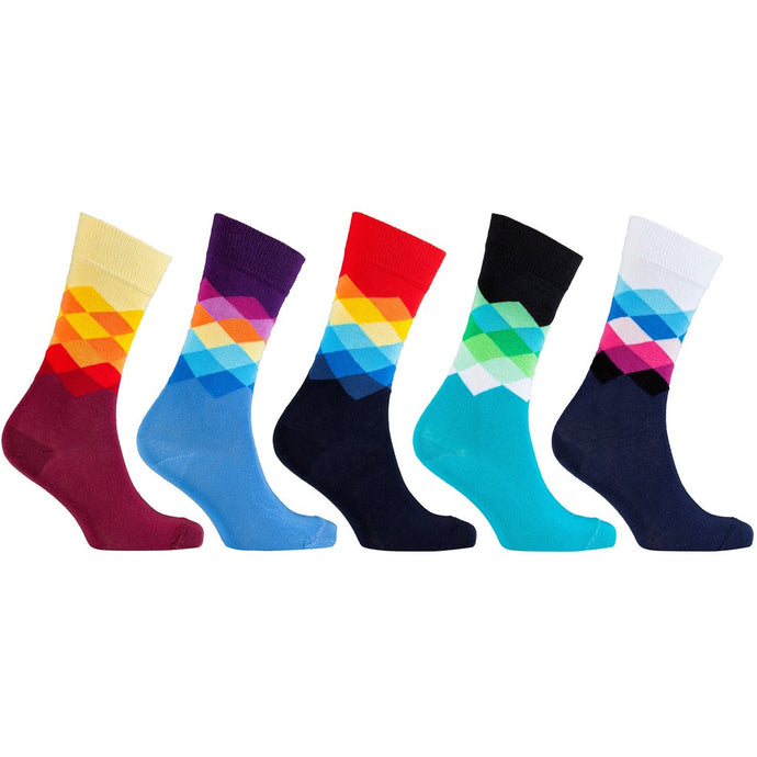 Men's 5-Pair Cool Patterned Socks