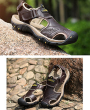 Genuine Leather Beach Sandals - Casual Hiking Shoes