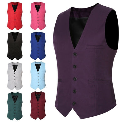 New Men's Formal Business Casual Dress Waistcoat Suit Slim Fit Tuxedo Waistcoat Coat M-6XL