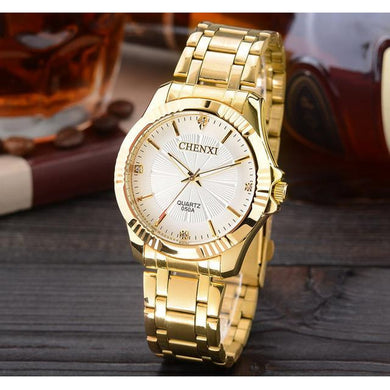 Gold Quartz Wristwatch