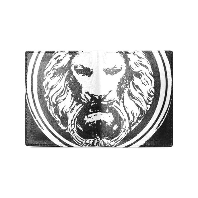Black Leather Lion Wallet