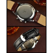 Leather Strap Male Clock