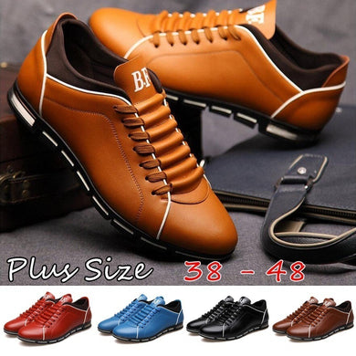 England Trend Casual Leisure Shoes Leather Shoes Breathable Loafers Men's Flats
