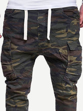 Pocket Camo Print Pants