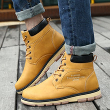 High-Top Leather Boots