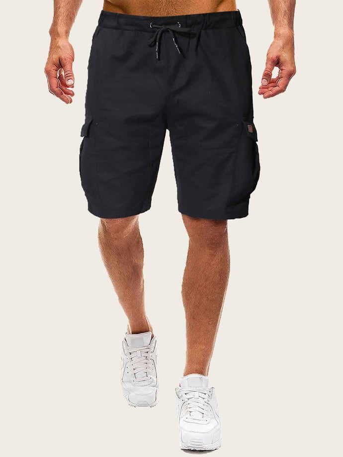 Drawstring Dual Pocket Shorts